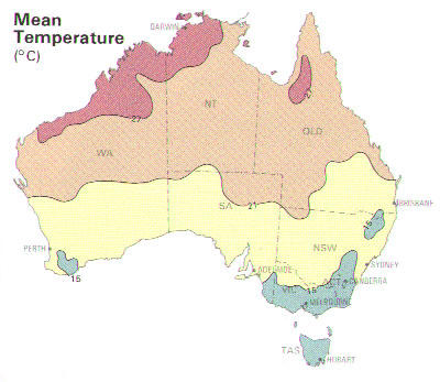 Australian mean temperature